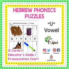 Hebrew Phonics Puzzles Shuruk The Kefar