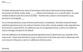 Letter To Terminate Contract With Supplier Supplier Or Vendor Termination Letter Samples