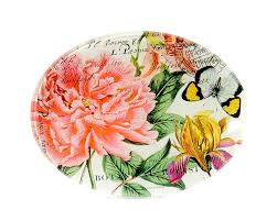 "Glass soap dish <b>Michel Design Works</b> ""<b>Peony</b>"" - Renio & Clark"