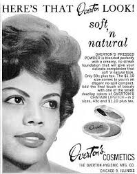 overton african american vine makeup advertisment 1960s