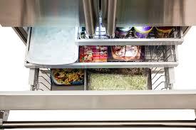 viking refrigerator inside. milk train\u0027s viking 3 series rvrf3361ss - self-closing freezer drawer with tri-level slide- refrigerator inside w