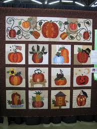 192 best pumpkin quilts images on Pinterest | Board, Crafts and Fall & The Great Pumpkin Quilt designed by Jeanne Davis, Briar Rose Designs.  Finishes at 73 x 76 Adamdwight.com