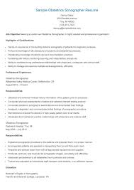 Sample Obstetrics Sonographer Resume Horoscope 2016 Pinterest