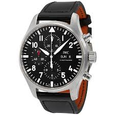 iwc pilot black automatic chronograph men s watch iw377709 pilot iwc pilot black automatic chronograph men s watch iw377709