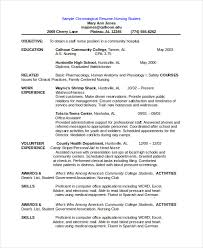 Chronological Resume Templates Beauteous Chronological Resume Template 28 Free Word PDF Documents