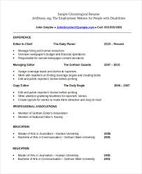 Chronological Resume Format Fascinating Chronological Resume Template 28 Free Word PDF Documents