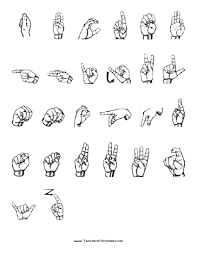 Baby Sign Language Chart Template Beauteous Sign Language Printables