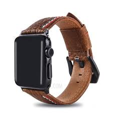 cowhide genuine leather wrisch strap accessory for apple watch series 4 40mm series 3 2
