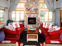 Country Living Room With Red Sofas. Color Q As Mastering The Neutrals Hgtv