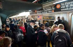 crowded subway train station. Contemporary Crowded And Crowded Subway Train Station W