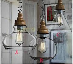 new wood and metal light fixture modern pendant lamp material of grain glass restaurant parlour hanging