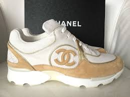 chanel trainers. 2015 chanel cc white beige gold sneakers tennis shoes trainers 37/38 nib chanel trainers 5