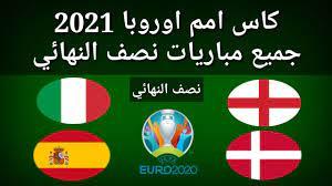 موعد وتوقيت مباريات نصف نهائي كأس أمم اوروبا 2021 - YouTube