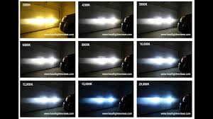 Hid Kit Color Comparison Video Footage 3000k Vs 6000k Vs 8000k