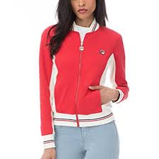 fila jacket womens. fila women\u0027s settanta jacket, chinese red, gardenia, peacoat, jacket womens