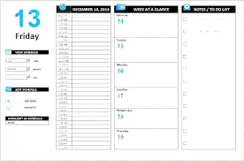 Microsoft Daily Planner Cool Schedule Template Microsoft Weekly Excel Free Editable For Ramautoco