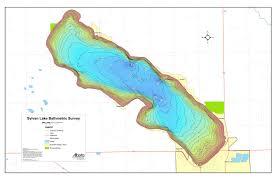 Sylvan Lake Bathymetric Chart