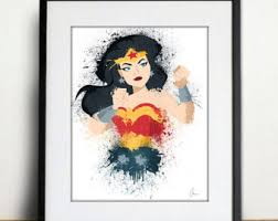 Online Get Cheap Wonder Woman Framed Poster Aliexpresscom Wonder Woman Home Decor