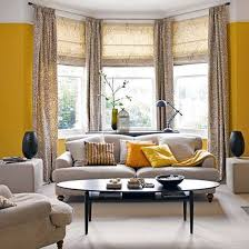 how to hang drapes in a bay window with a continuous rod