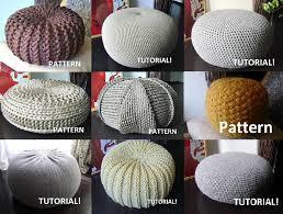 Knitted Pouf Ottoman Pattern