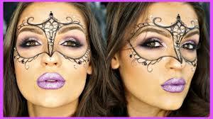 glittery masquerade mask makeup