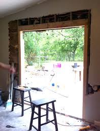replace sliding door glass install patio door in brick or limestone wall sliding door install sliding