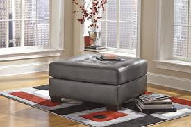 oversized leather ottoman. Contemporary Leather Alliston DuraBlend  Oversized Accent Ottoman In Leather A