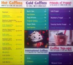 Cafe Coffee Day Menu Menu For Cafe Coffee Day Arera Colony
