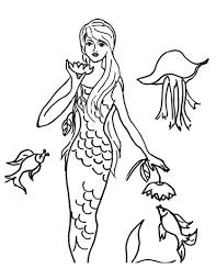 Disegno Di La Sirenetta E Le Creature Marine Da Colorare Disegni