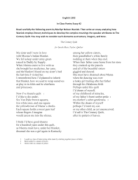 english in class poetry essay carefully the following