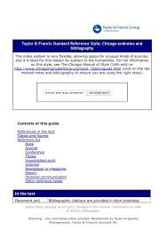 Taylor Francis Standard Reference Style Chicago Endnotes