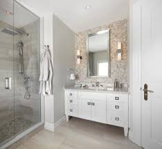 Accent Wall Bathroom Modern Recessed Lighting Bathroom Transitional With Accent Wall