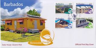 Light And Power Barbados New Barbados Stamps Celebrate Renewable Energy Barbados Stamps