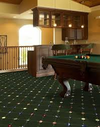 billiards green carpet room