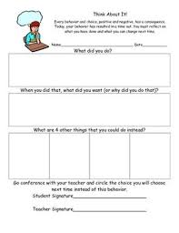 Think About It School Discipline School Behavior Chart