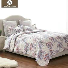 elephant pattern quilt set bedspread bed cover quilted bedding duvet pillowcase quilts warm print sets