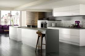 Kitchens Floor A High Gloss Modern Remo Dove Grey Kitchen Design Idea For The