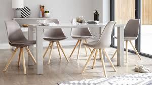modern 6 seater grey gloss dining set