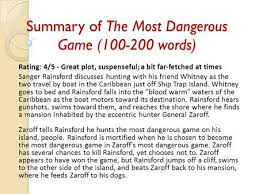the most dangerous game summary essay sparknotes the most dangerous game plot overview