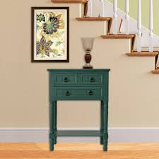 entryway console table. Antique Teal 3-Drawer Console Accent Table Entryway