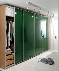 image of sliding glass closet doors green