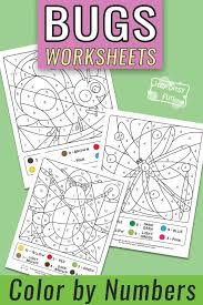 As usual, the flashcards come in different sets offering maximum. Bugs Coloring By Number Worksheets Itsybitsyfun Com