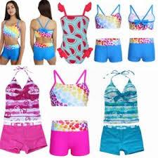 3Pcs Kids Baby Girls Watermelon Bikini Bathing Swimsuit Swimwear ...