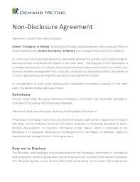Nda Template Free Download Non Disclosure Agreement Template Canada