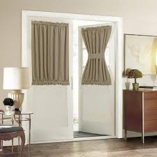 single panel curtain. Aquazolax Plain Blackout Curtains Thermal Insulated For French Doors - Single Panel, 54\ Panel Curtain T