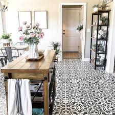 stenciled farmhouse kitchen tile stencils floor