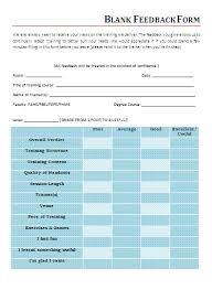 Printable Feedback Forms Free Word Templates