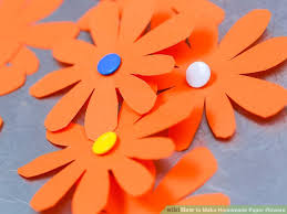 Make Flower With Paper 3 Ways To Make Homemade Paper Flowers Wikihow