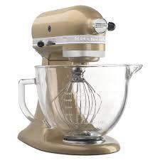 kitchenaid ksm155gbcz artisan design series glass bowl 5 quart champagne gold com