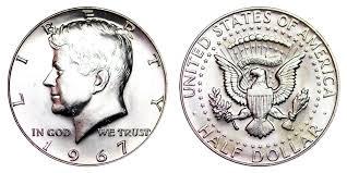 1967 Kennedy Half Dollar Value Chart 1967 Kennedy Silver Half Dollar 40 Silver Coin Value Prices